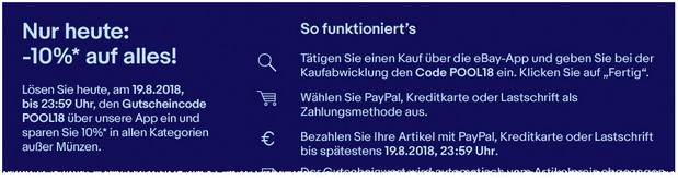 eBay App Aktion am 19.8.2018
