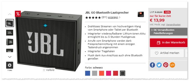 JBL Go als Black Deal