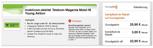 Magenta Mobil M Young (md) mit 8 GB LTE