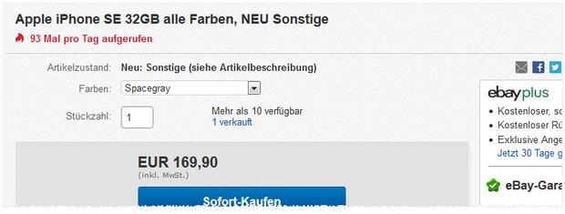 Apple iPhone SE (32 GB) kaufen