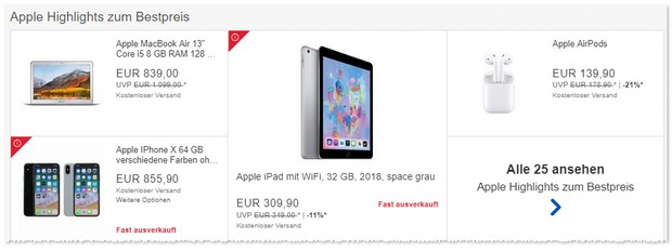 iPhone X als Apple Highlight im Angebot