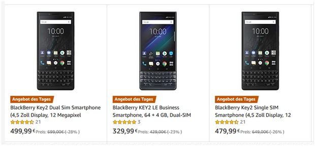 BlackBerry Key2 bei Amazon