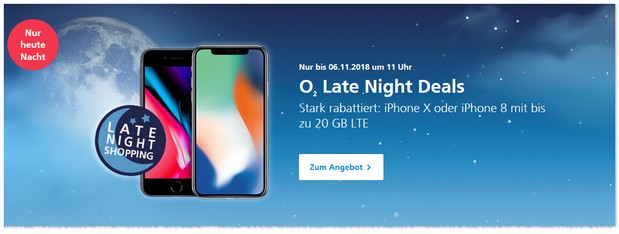 o2 Late Night Deals