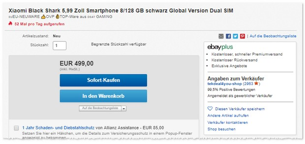 Xiaomi Black Shark Angebot