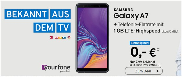 Samsung Galaxy A7 als yourfone-Deal