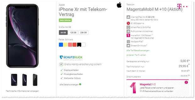 Magenta Mobil M + iPhone XR mit DABEI-Aktion