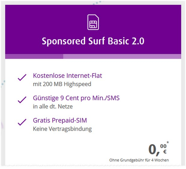 netzclub Sponsored Surf Basic 2.0