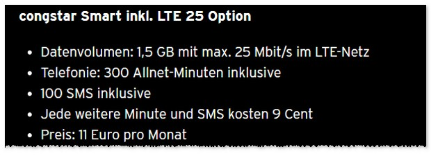 congstar Smart mit LTE