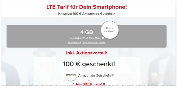 Tarifhaus powered by CHIP mit 100 € Gutschein-Aktion