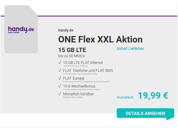 handy.de ONE Flex XXL Aktion