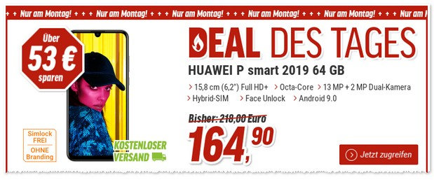 Huawei P Smart 2019 als Top-Deal