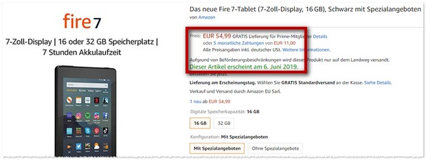 Neues Fire Tablet