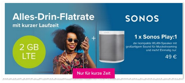 Tarifhaus Aktion mit Sonos Play:1