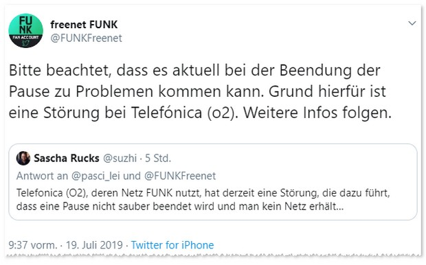 Freenet FUNK: Kein Empfang