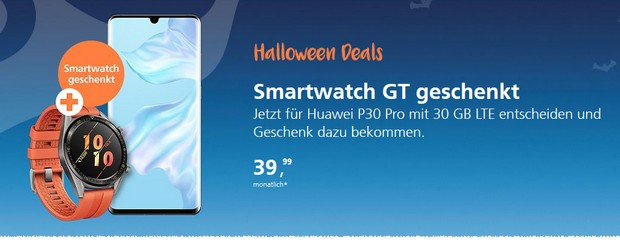 o2 Halloweeen Deals - z.B. mit Smartwatch on top!