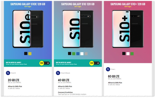 o2 Free M Boost (40GB) + Samsung Galaxy S10