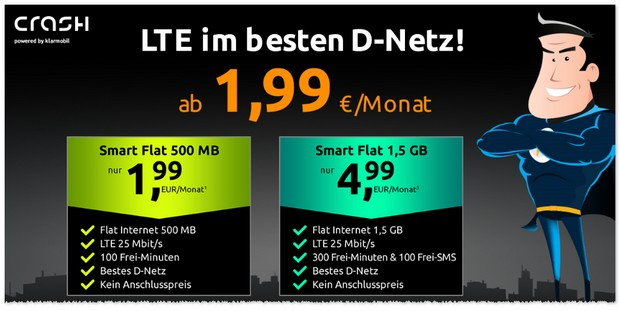 Crash Smart Flat mit 500 MB LTE