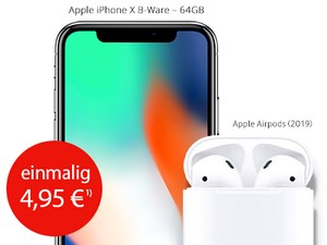 iPhone X + AirPods 2019