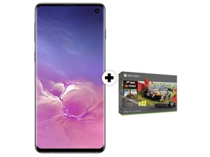 Samsung Galaxy S10 mit Xbox One X im Forza Horizon 4 LEGO Speed Champion Bundle