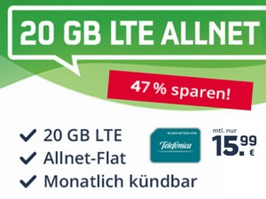 o2 green LTE 20 GB