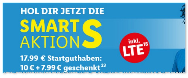 LIDL Connect Smart S Startguthaben