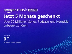 Amazon Music Unlimited 5 Monate gratis für o2-Kunden