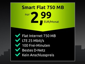 crash Smartphone-Flat Aktion für 2,99 €