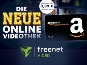freenet Video mit 5 € amazon.de-Gutschein