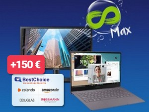 Samsung Galaxy Book S + o2 Free Unlimited Max (Aktion) mit 150 € Bestchoice-Gutschein