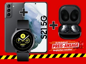 Samsung Galaxy S21 (256 GB) mit Smartwatch und Galaxy Buds Live im Unlimited-Tarif